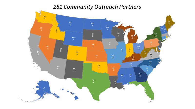 Community Outreach Map